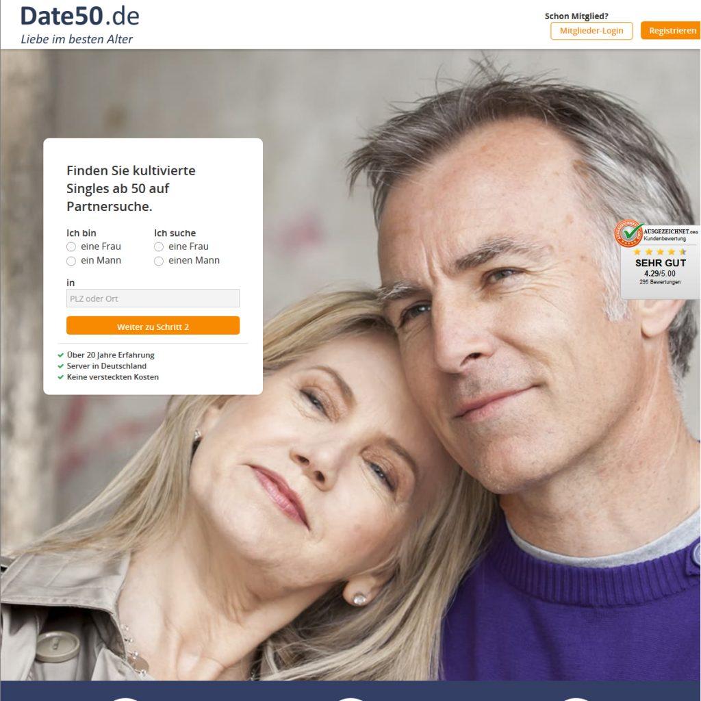 Datingseite für Ältere Date50.de