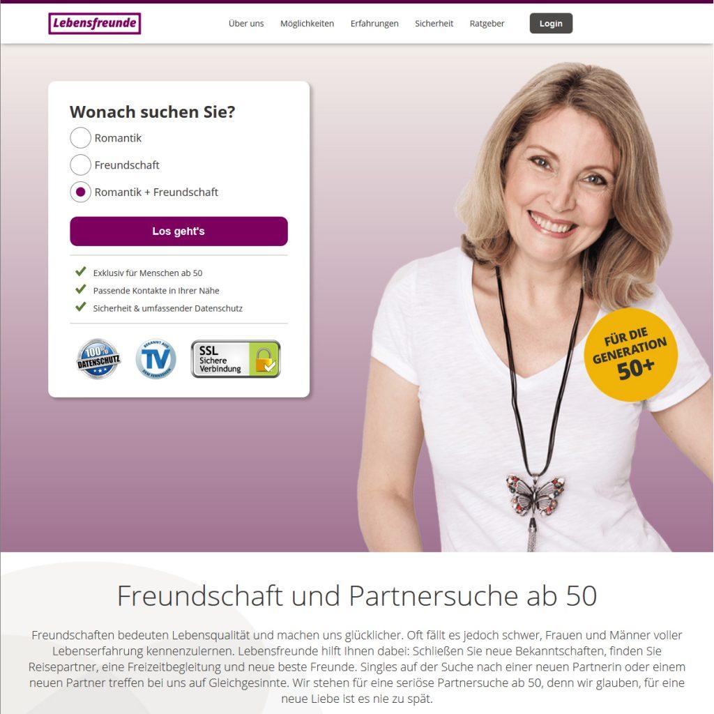 Datingseite für Ältere Lebensfreunde.de