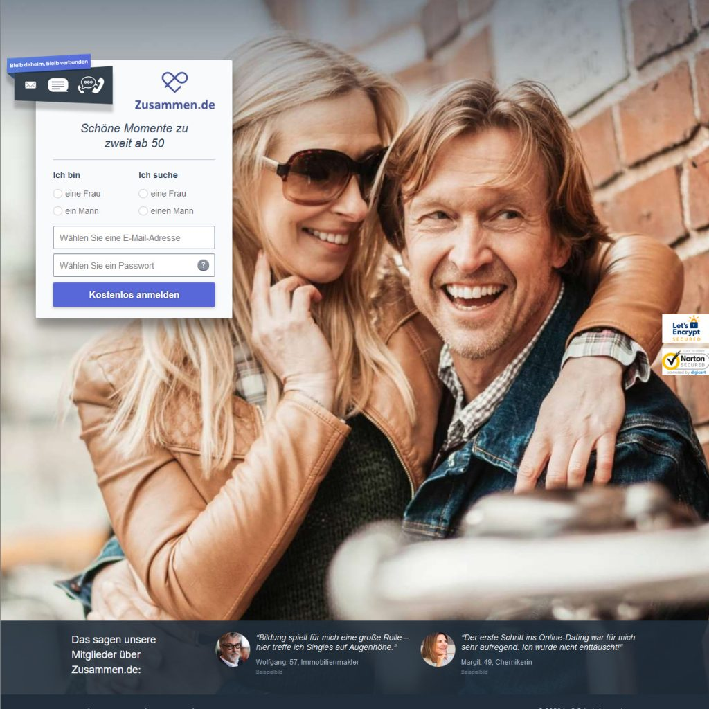 Datingseite für Ältere Zusammen.de