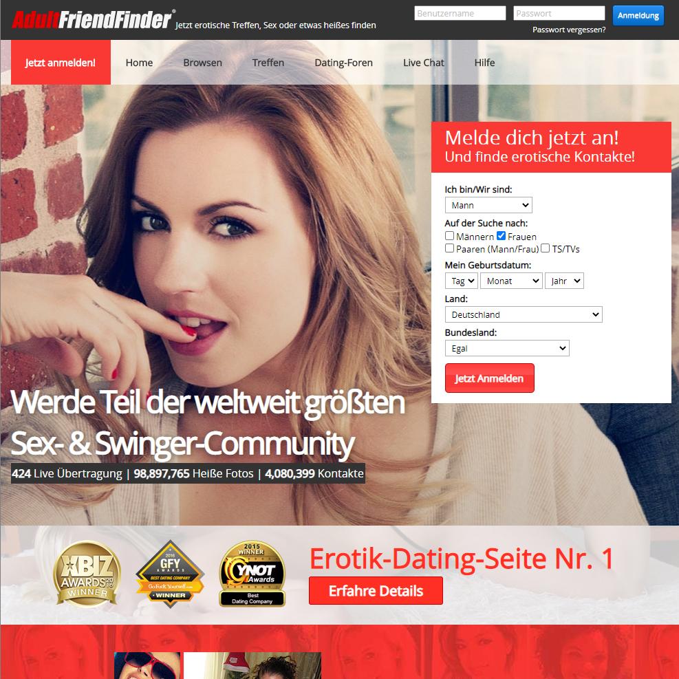 Sex- & Swinger-Community AdultFriendFinder
